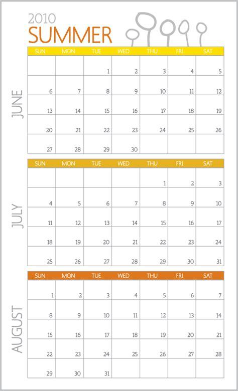Summer Calendar Summer Calendar Thirty Handmade Days