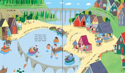 Usborne See Inside Trains pull back busy book at usborne children s books