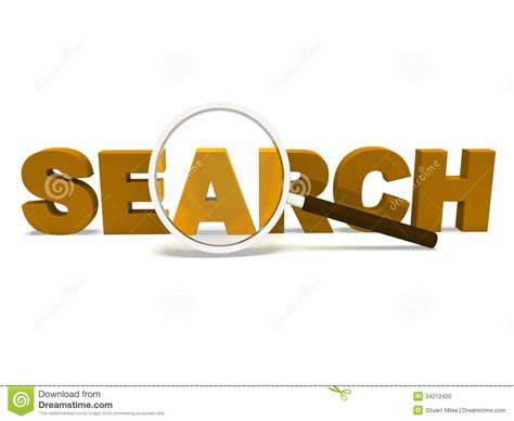 Search Web Finder Search Word Shows Web Find And Researching Stock Photo Image 34212420