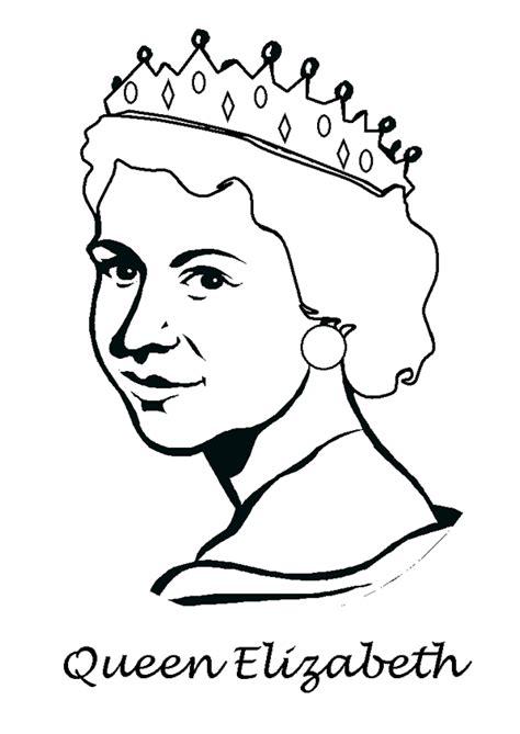 coloring pages of queen elizabeth coloriage reine d angleterre hugolescargot com