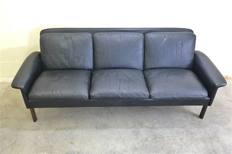 beautiful leather sofas beautiful hans three seat leather and rosewood sofa