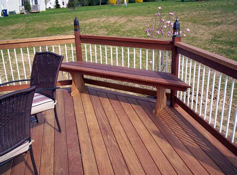 corner deck bench your deck options options on deck railing lighting