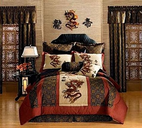 asian themed bedding dragon bedroom cool dragons pinterest
