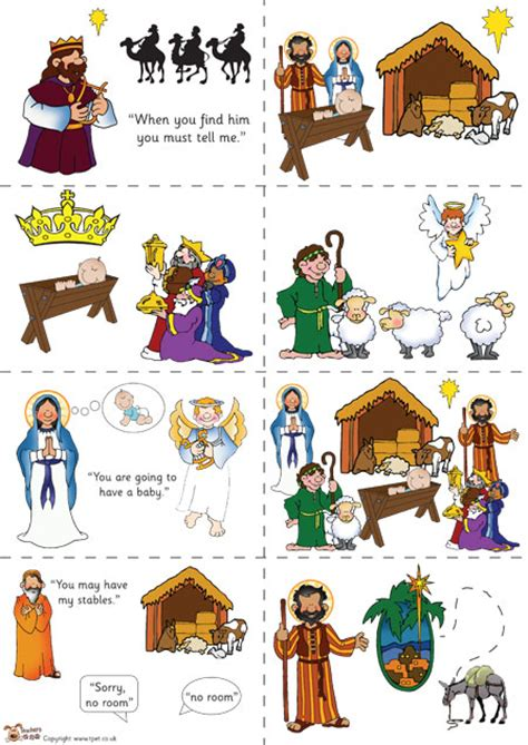 printable children s nativity story teacher s pet nativity story sequencing colour free