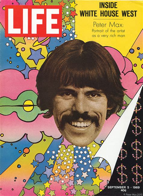 biography of peter max artist peter max cover of life magazine september 5 1969 with