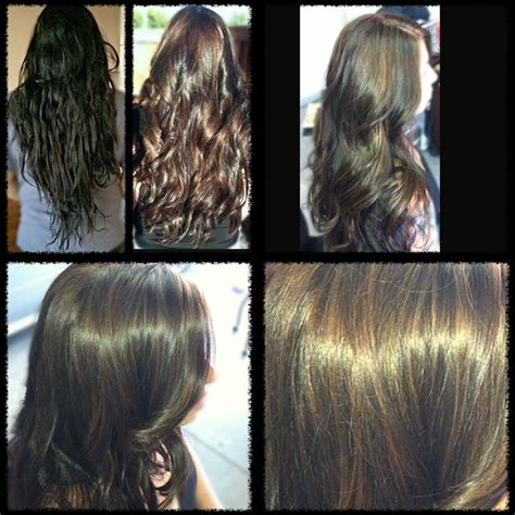 pravana hair color extractor pravana color extractor before and after 1st process