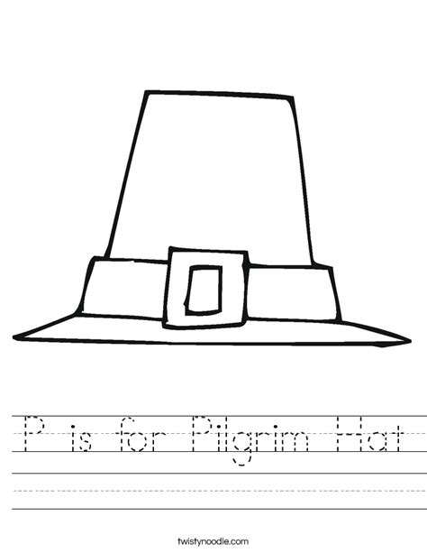pilgrim hat printable template p is for pilgrim hat worksheet twisty noodle