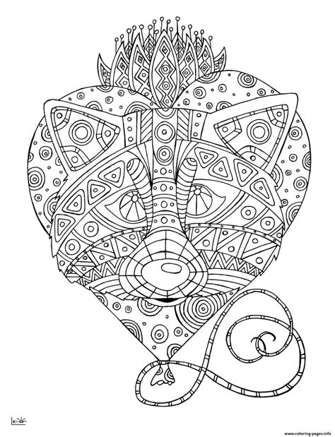coloring pages of tribal pattern raccoon with tribal pattern adults coloring pages printable