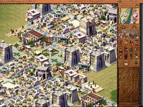 pharaoh game layout tips of walkers and men and women city building by design