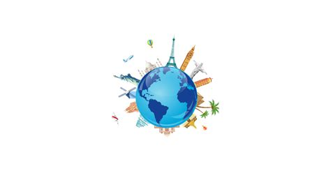 famous world travel destinations  vector  png