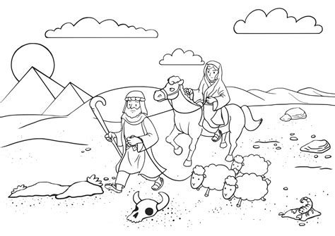 angels visit abraham coloring page clipart 03 genesis 12 10 20 01
