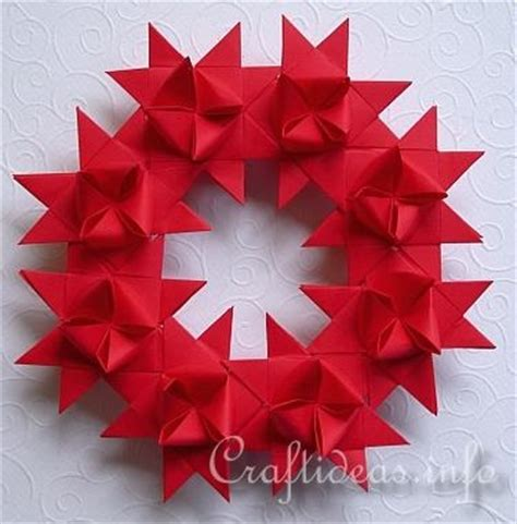 German Folded Paper - german wreath for the home beautiful