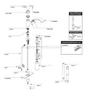 Moen Kitchen Faucet Parts Breakdown by Moen Ca87550brb Parts List And Diagram Ereplacementparts Com