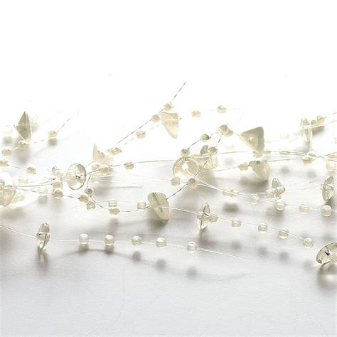 beaded garland for candles ivory beaded garland decorative beaded candle garlands
