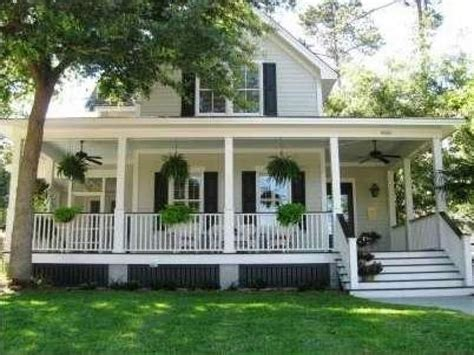 Wrap Around Porch Homes Southern Country Style Homes Southern Style House With