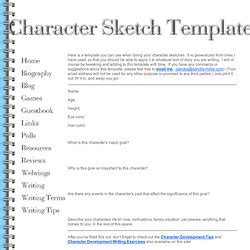 Character Background Template by Character Sketch Template Playbestonlinegames