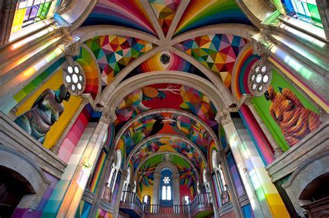 Kaos Colourful Skateboarding a 100 year church in spain transformed into a skate