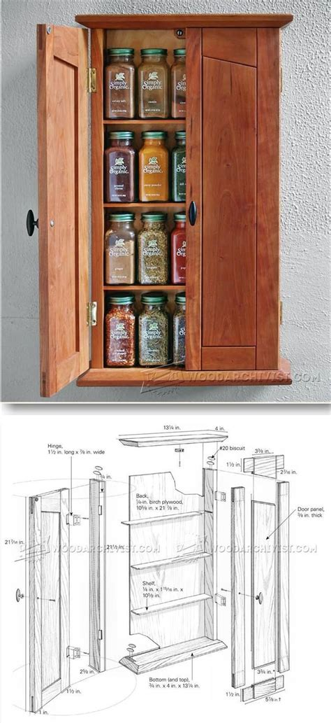 spice cabinet plans furniture plans  projects