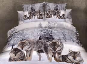 Glam Comforter Sets Wolf Druck Bettw 228 Sche Werbeaktion Shop F 252 R Werbeaktion