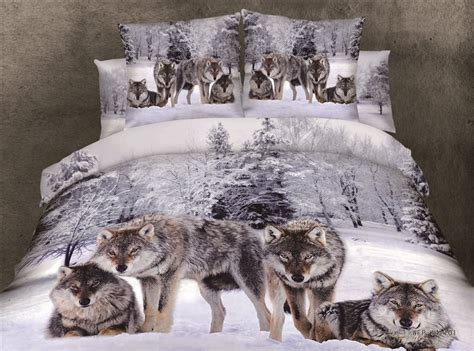 3d snow wolf print bedding comforter set sets queen size