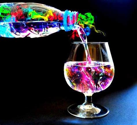 colorful drinks on