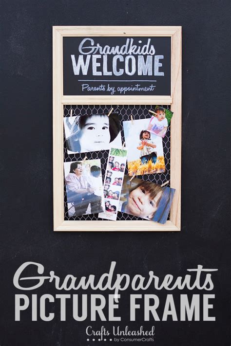 homemade christmas gifts for grandparents photo frame