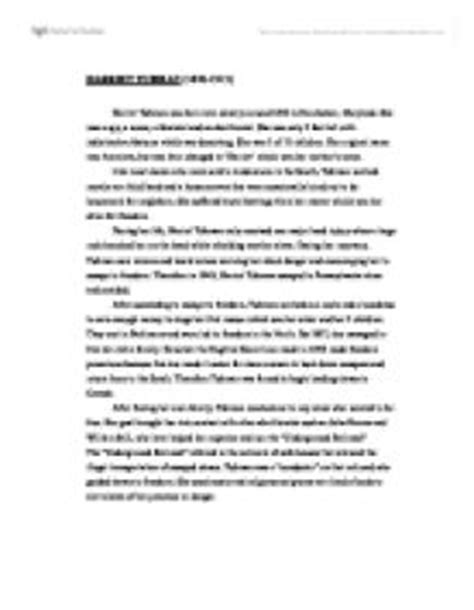 Harriet Tubman Essay by Harriet Tubman Essay Essay On Harriet Tubman Essay On Harriet Tubman Wwwgxart Harriet Ayucar