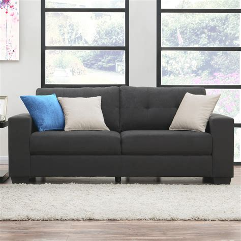 grey microfiber sofa dorel home furnishings microfiber sofa asher gray sears