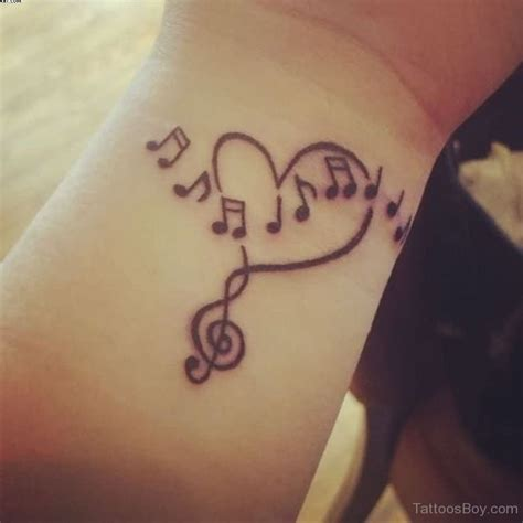 music notes on wrist tattoo tattoos designs pictures page 3