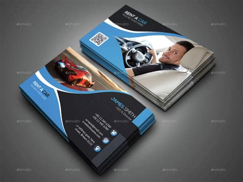 rent a car business card template free rent a car business card by designsign graphicriver
