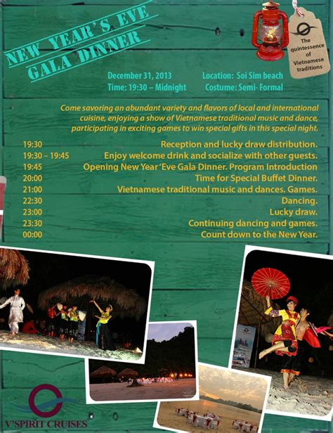 introduction to new year new year gala dinner program 2013 v spirit cruises