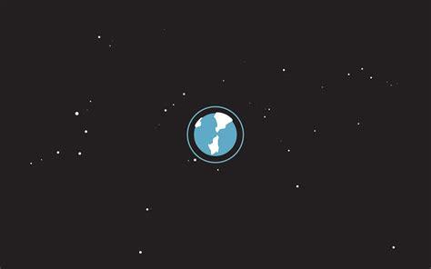 earth stars space minimalism wallpapers hd desktop