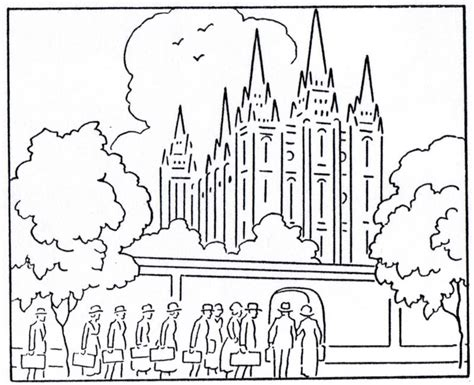 Lds Coloring Pages Temple Salt Lake Temple Coloring Page
