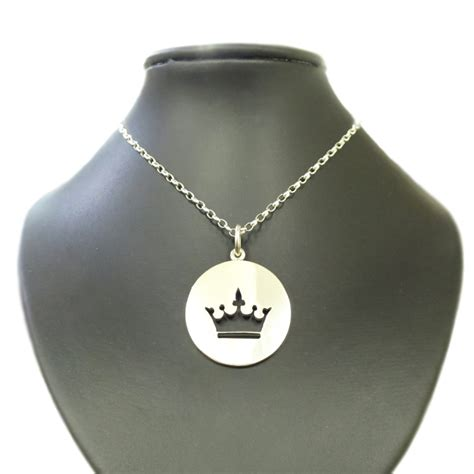 silhouette sterling silver crown pendant cameron jewellery