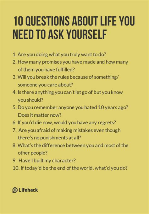biography questions to ask 10 questions to ask yourself everyday need to life and