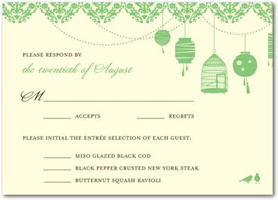 Wedding Invitation Options by Wedding Invitation With The Menu Option Everafterguide
