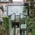 25 modern front door with wood accents decorazilla wooden front door with glass slats