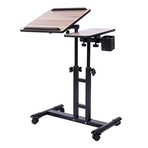 Adjustable Rolling Laptop Desk Galleon Redscorpion Adjustable Height Rolling Laptop Desk Table Computer Desk Sofa Bed