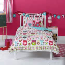 kaleidoscope owl single duvet cover and pillowcase contemporary children s bedding by john