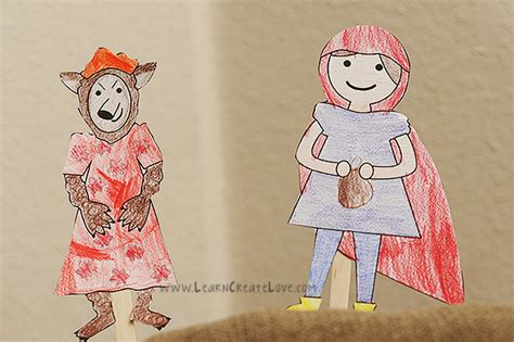 printable version of little red riding hood printable storytime craft little red riding hood