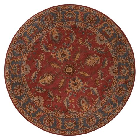 8ft rugs home decorators collection aristocrat rust 8 ft x 8 ft area rug 0167570110 the