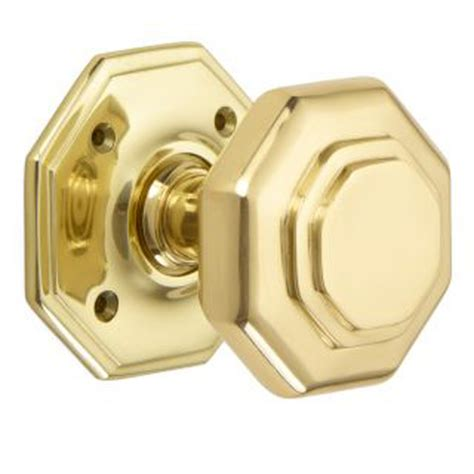 flat octagon door knob 4180 brass nickel chrome bronze