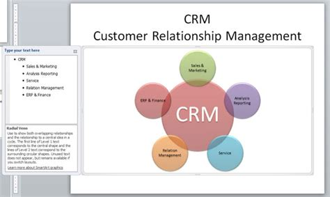 Customer relationship management diagram in powerpoint