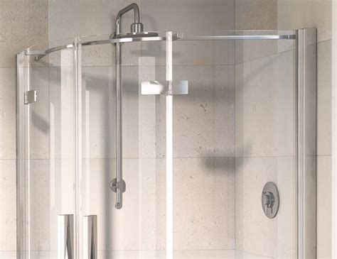 Aqualux Shower Doors From Only 163 571 99 Aqualux Aqua 8 Hinged Offset Quadrant Polished Silver Shower Enclosure