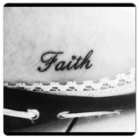 small faith tattoos faith faith on my foot small faith