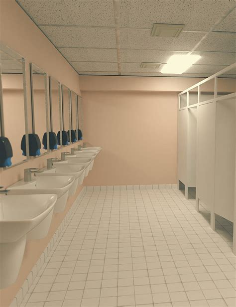 in school bathroom high school bathroom 3d models and 3d software by daz 3d