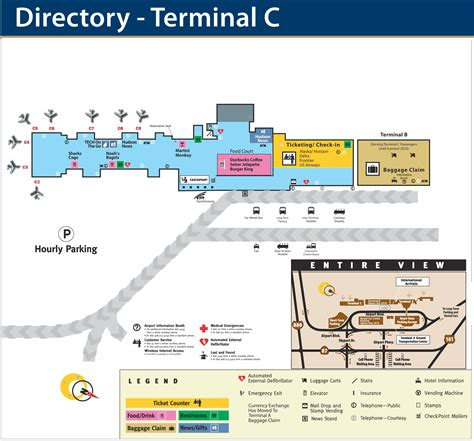 c map san jose airport terminal c map