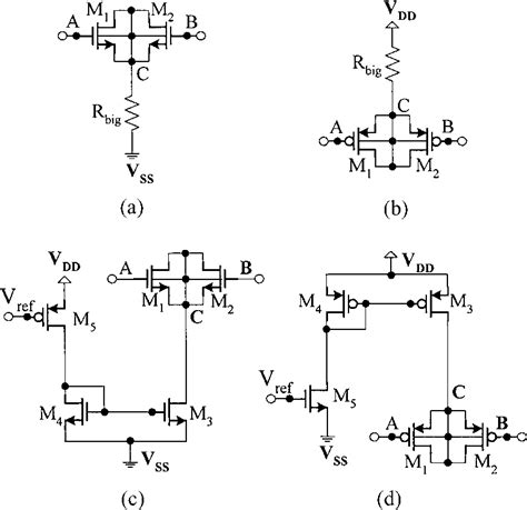 layout capacitor nmos afloating mos capacitor implementation a nmos b pmos and its