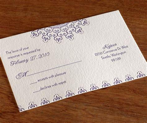 Indian Wedding Rsvp Cards Wording