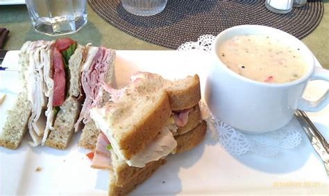 josephine tea room club sandwich on wheatberry bread with lobster bisque picture of josephine s tea room gifts